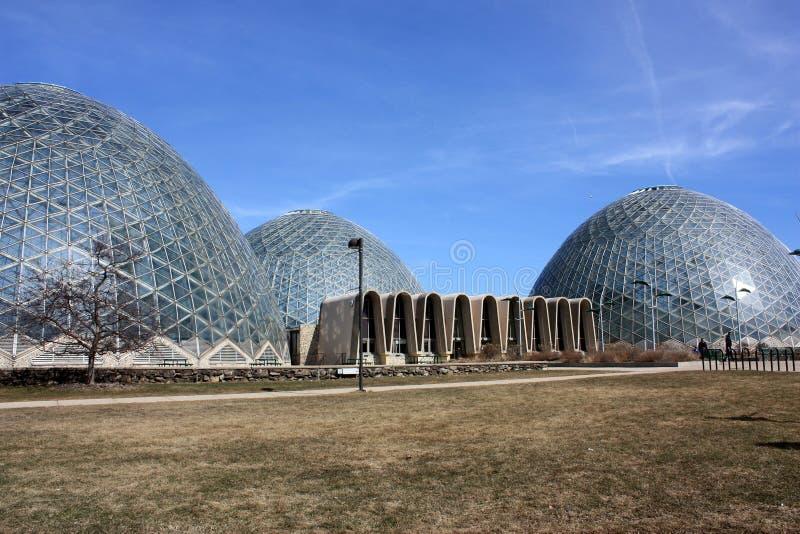 Mitchell konserwatorium Parkowe Ogrodnicze kopuły, Milwaukee, WI zdjęcie stock