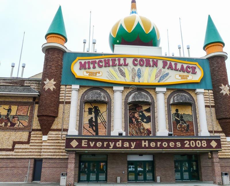 Mitchell Kukurydzany pałac - powierzchowność fotografia stock