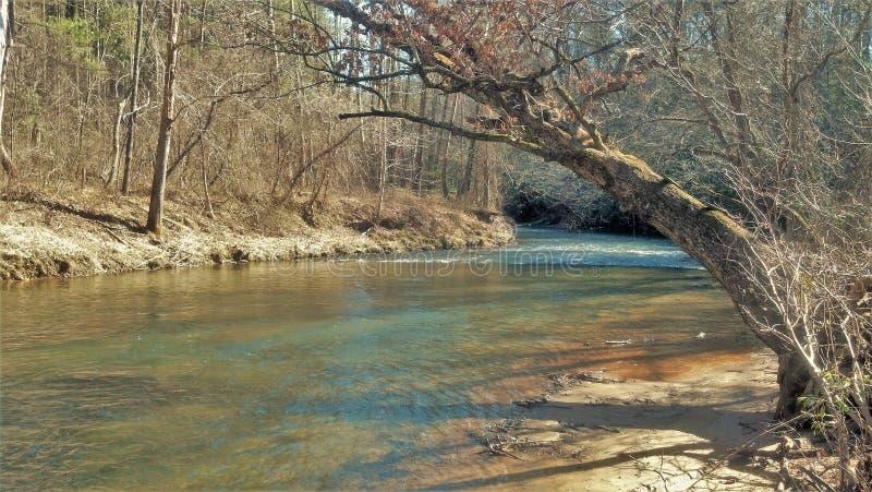 Mitchell rzeka w Pólnocna Karolina obraz stock