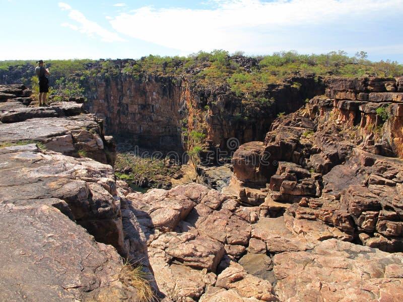 Mitchelldalingen, kimberley, West-Australië stock foto