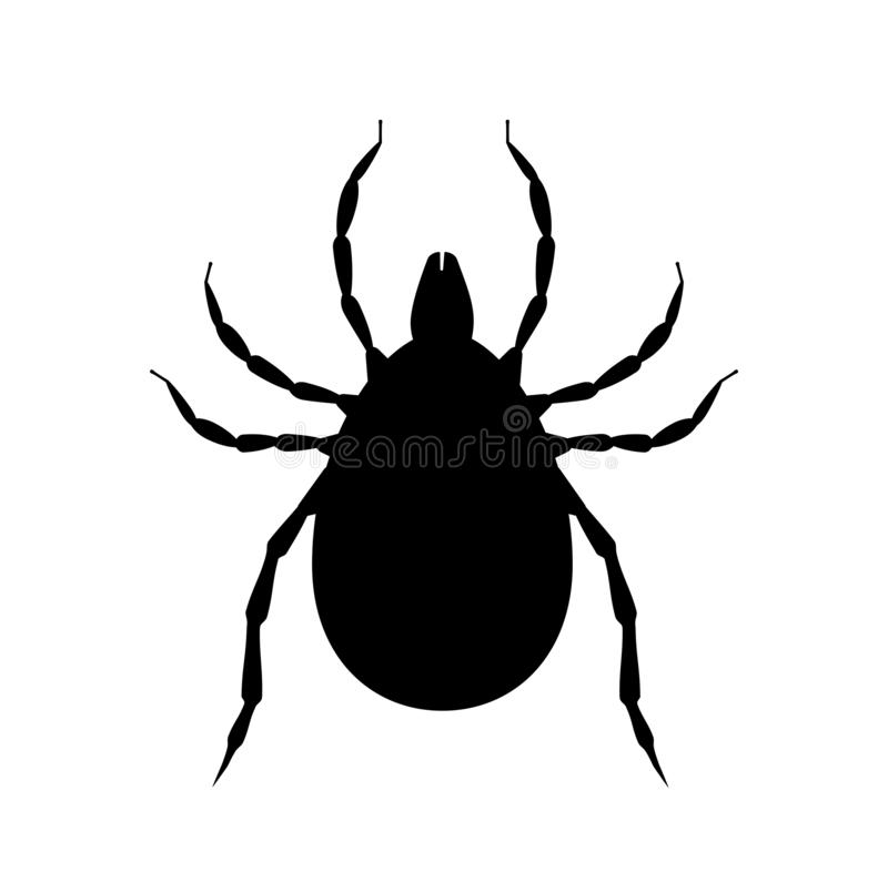 Free Mite Black Silhouette. Pest Insect Symbol. Insecticide Icon. Bloodsucking Bug Royalty Free Stock Photo - 149183415