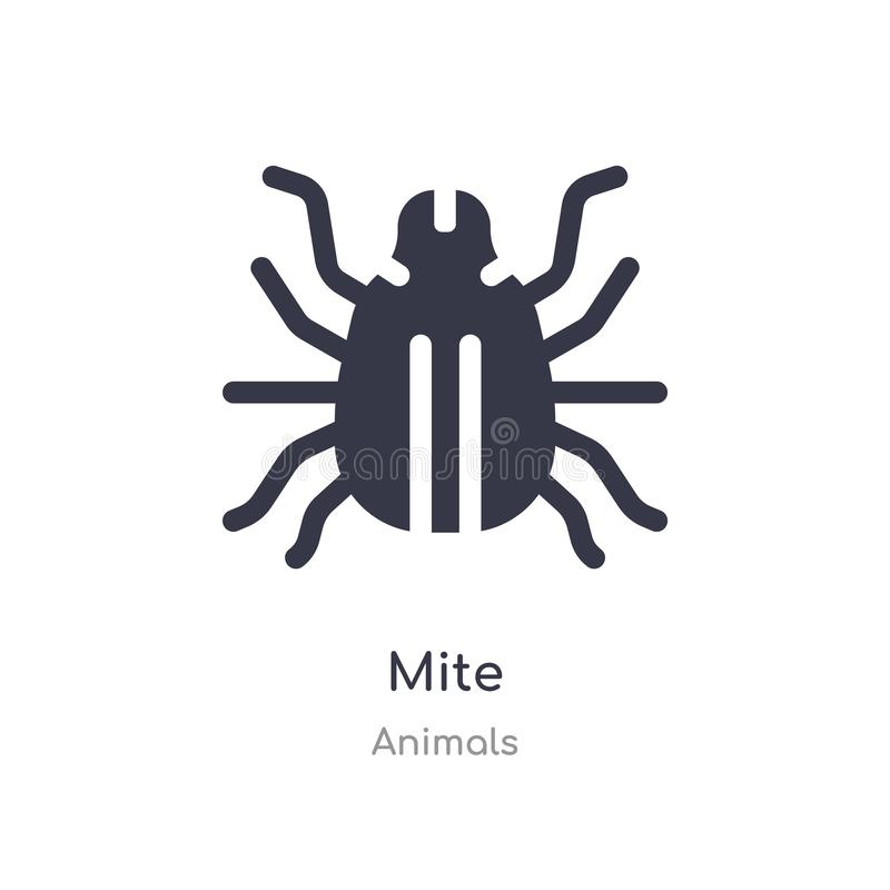 mite icon. isolated mite icon vector illustration from animals collection. editable sing symbol can be use for web site and mobile vector illustration