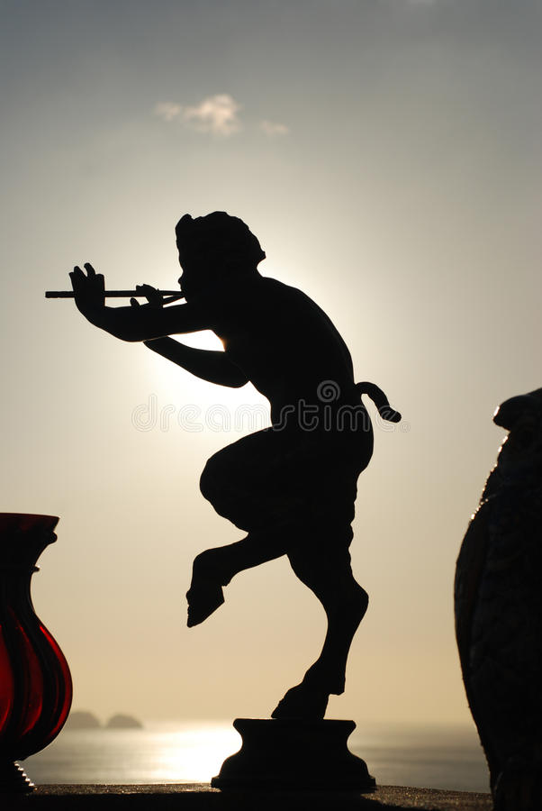 The Mite. Nice shot took in Positano - Italy a perfect silhouette of a Faun royalty free stock images