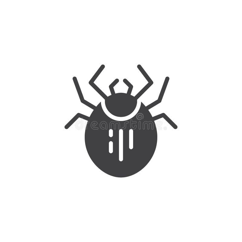 Mite pest vector icon stock illustration