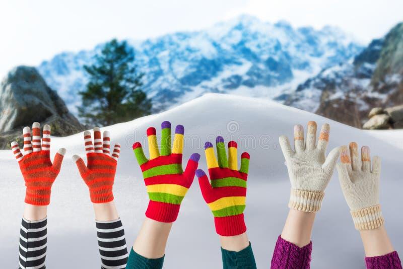 Mitenes e luvas do inverno fotografia de stock royalty free