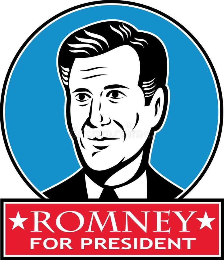 Mitenka Dla Amerykańskiego Prezydent Romney ilustracji
