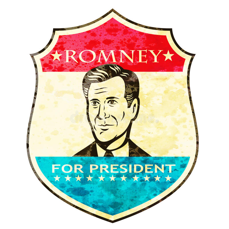 Mitenka Dla Amerykańskiego Prezydent Romney Osłaniający royalty ilustracja