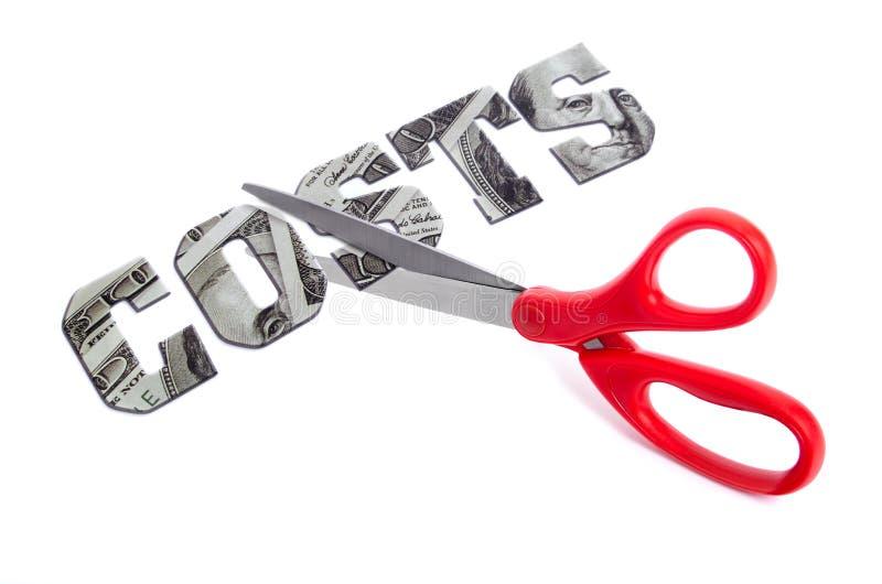 miter cięcia kosztów piłę pieniądze obrazy stock