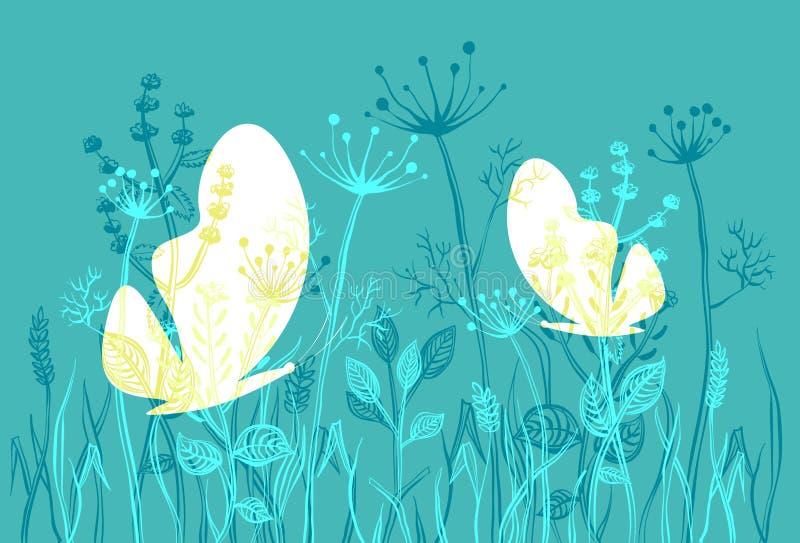 Mites et herbe image libre de droits
