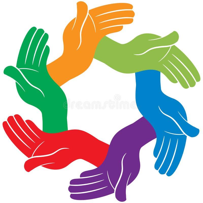 Mitfühlendes Handteamvektor-Illustrationslogo lizenzfreie abbildung
