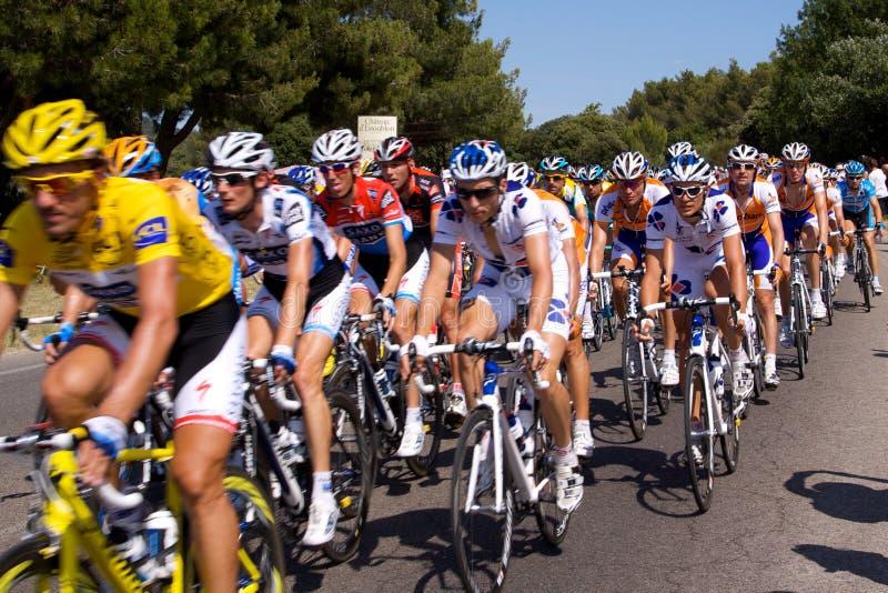 Mitfahrer in Tour de France 2009 stockbild