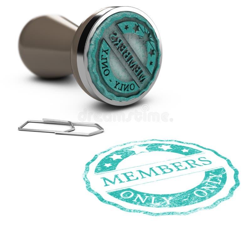 Mitgliedschaft, nur Mitglieder lizenzfreie abbildung