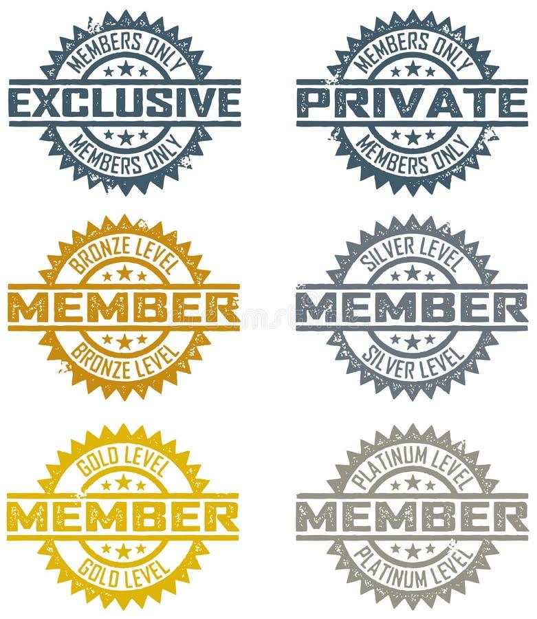 Mitgliedschafts-Stempel vektor abbildung