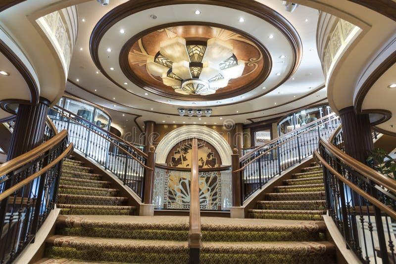Mitgliedstaat Queen Elizabeth Grand Foyer Staircase stockfoto
