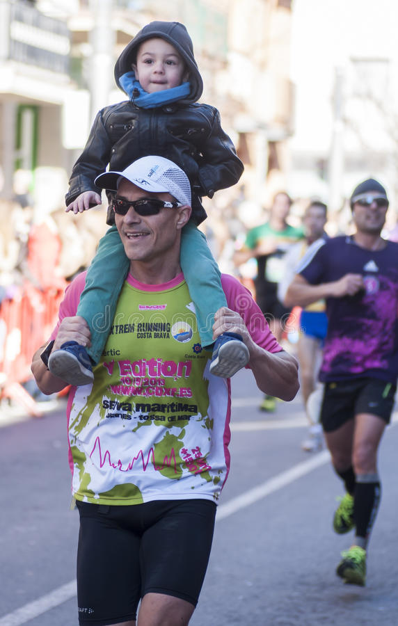 Download Mitja Marato Granollers editorial stock photo. Image of feet - 37467648