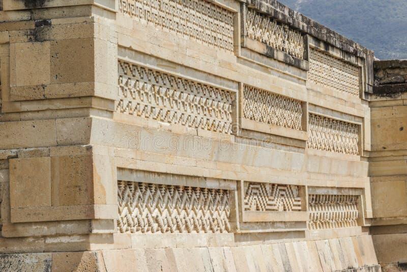 Mitla废墟在瓦哈卡墨西哥 免版税库存图片