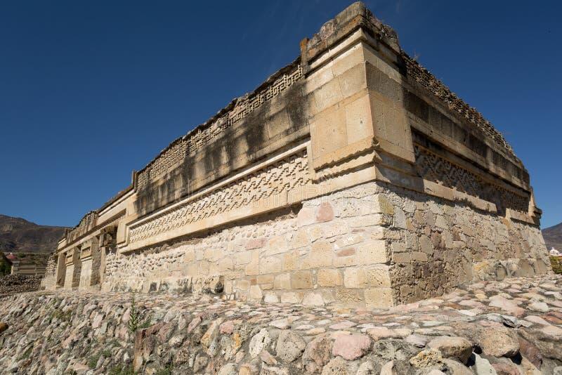 Mitla考古学站点在瓦哈卡墨西哥 免版税库存照片