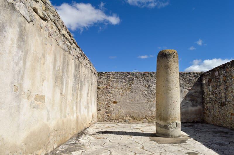 Mitla考古学站点在瓦哈卡,墨西哥状态的  库存图片