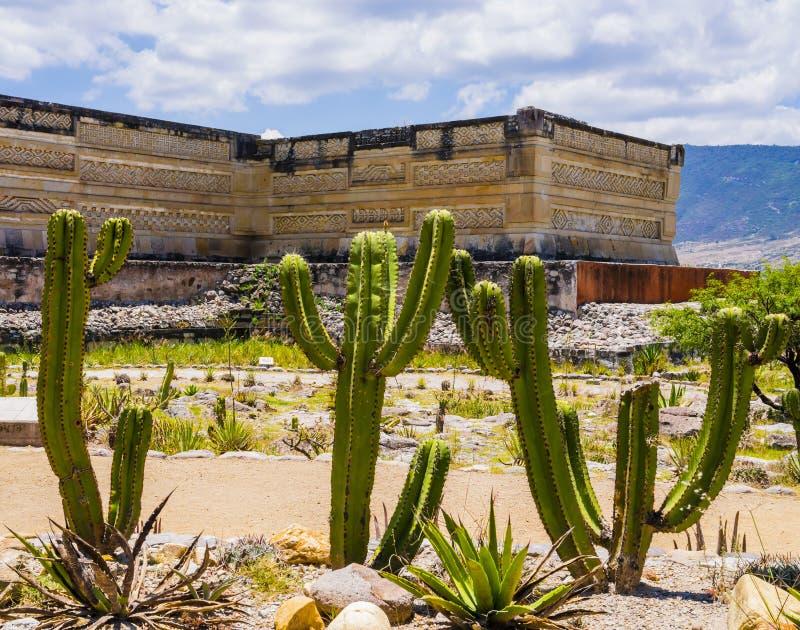 Mitla,瓦哈卡,墨西哥考古学站点  库存照片