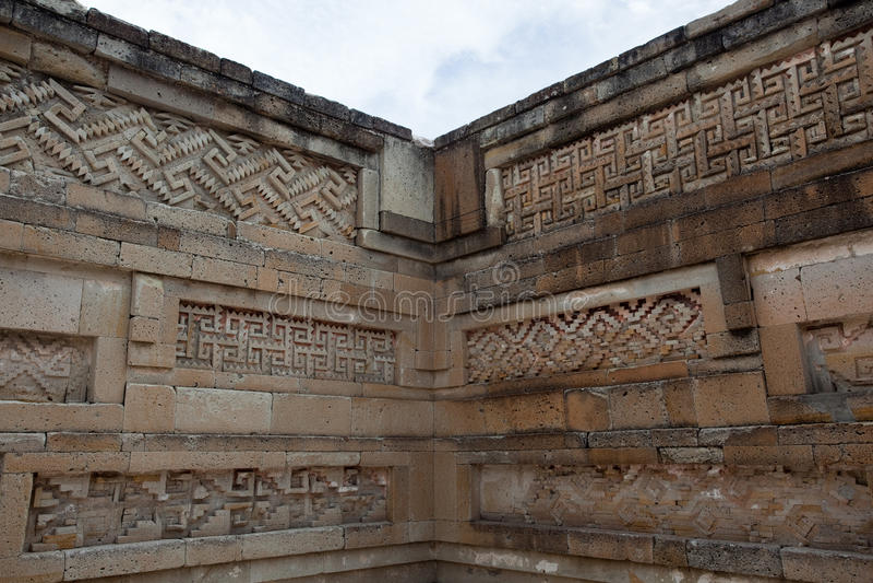 Mitla. Ancient ruins on Mitla located near Oaxaca, Mexico royalty free stock photos