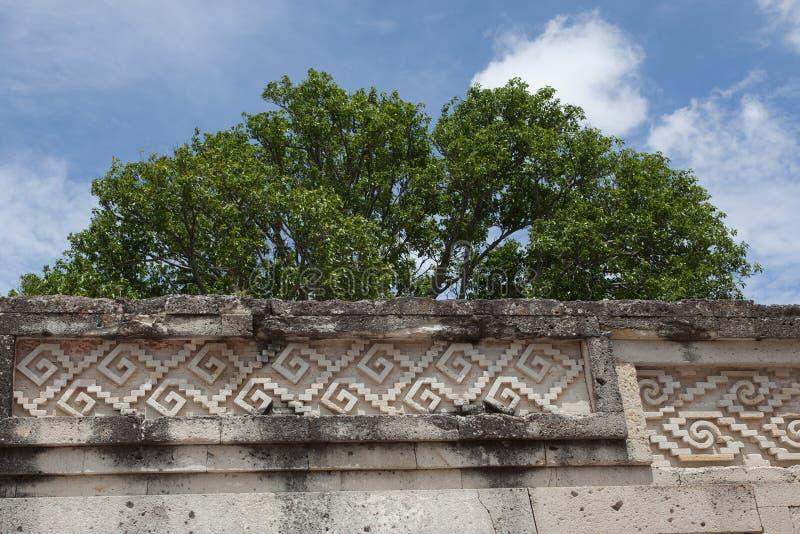 Mitla. Ancient ruins on Mitla located near Oaxaca, Mexico royalty free stock photo