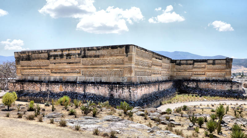 Mitla. Ancient Pyramids of Mitla, Oaxaca Mexico royalty free stock images