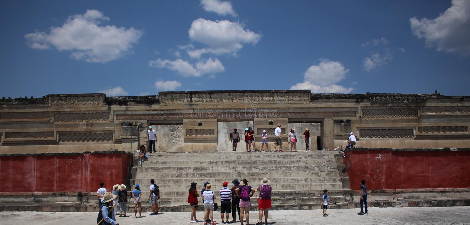 Mitla. The Mitla Archaeological Zone in Oaxaca royalty free stock photos
