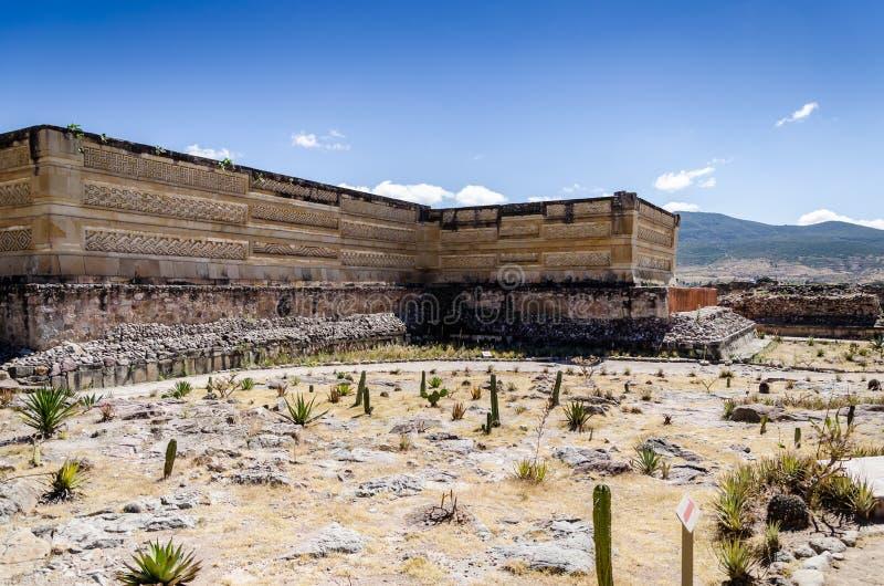 Mitla archeologische plaats stock foto