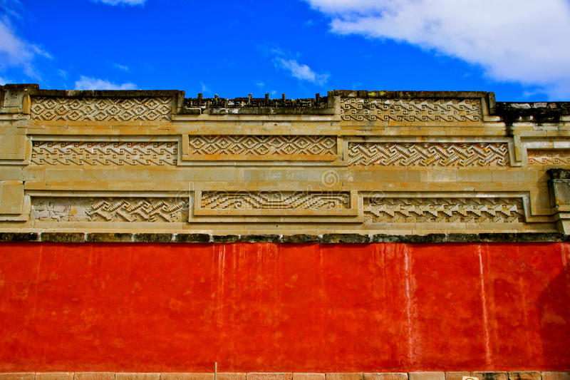 Mitla, Detail of the Colums Group (Grecos) royalty free stock photo