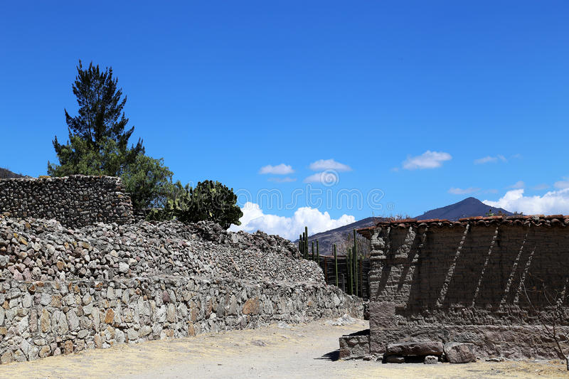 Mitla, Oaxaca, Mexico. Mitla is the second most important archeological site in the state of Oaxaca in Mexico, and the most important of the Zapotec culture royalty free stock photography