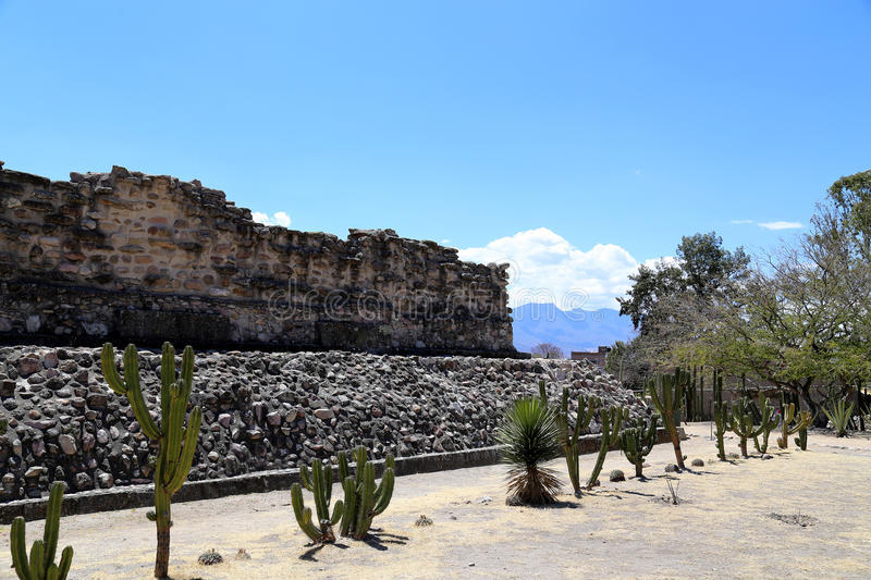 Mitla, Oaxaca, Mexico. Mitla is the second most important archeological site in the state of Oaxaca in Mexico, and the most important of the Zapotec culture stock images
