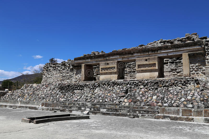 Mitla, Oaxaca, Mexico. Mitla is the second most important archeological site in the state of Oaxaca in Mexico, and the most important of the Zapotec culture stock photo