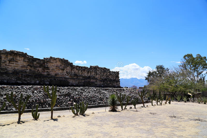 Mitla, Oaxaca, Mexico. Mitla is the second most important archeological site in the state of Oaxaca in Mexico, and the most important of the Zapotec culture royalty free stock image