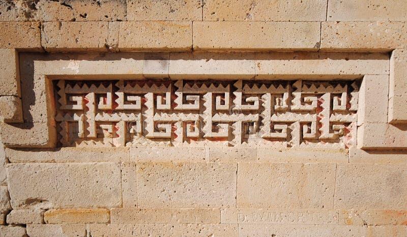 Mitla ruins, Mexico. Detail of building in Mitla, Oaxaca, Mexico royalty free stock photos