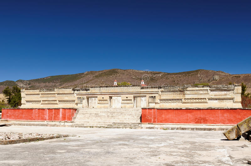 Mitla ruins in Mexico. Mayan city ruins in Mitla near Oaxaca city. The most important of the Zapotec religious centers royalty free stock photography