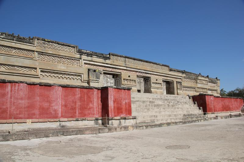Mitla ancient site, Mexico. Mitla is the second most important archeological site in the state of Oaxaca in Mexico, and the most important of the Zapotec culture stock photo