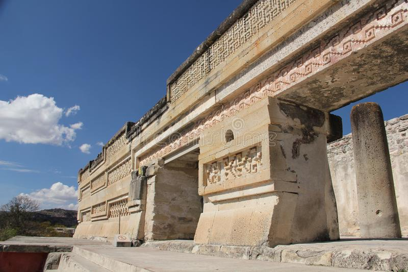 Mitla ancient site, Mexico. Mitla is the second most important archeological site in the state of Oaxaca in Mexico, and the most important of the Zapotec culture stock images