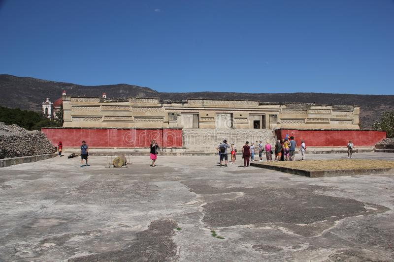 Mitla ancient site, Mexico. Mitla is the second most important archeological site in the state of Oaxaca in Mexico, and the most important of the Zapotec culture royalty free stock photography