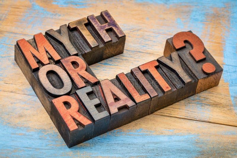 ¿Mito o realidad? Pregunta en el tipo de madera fotos de archivo libres de regalías