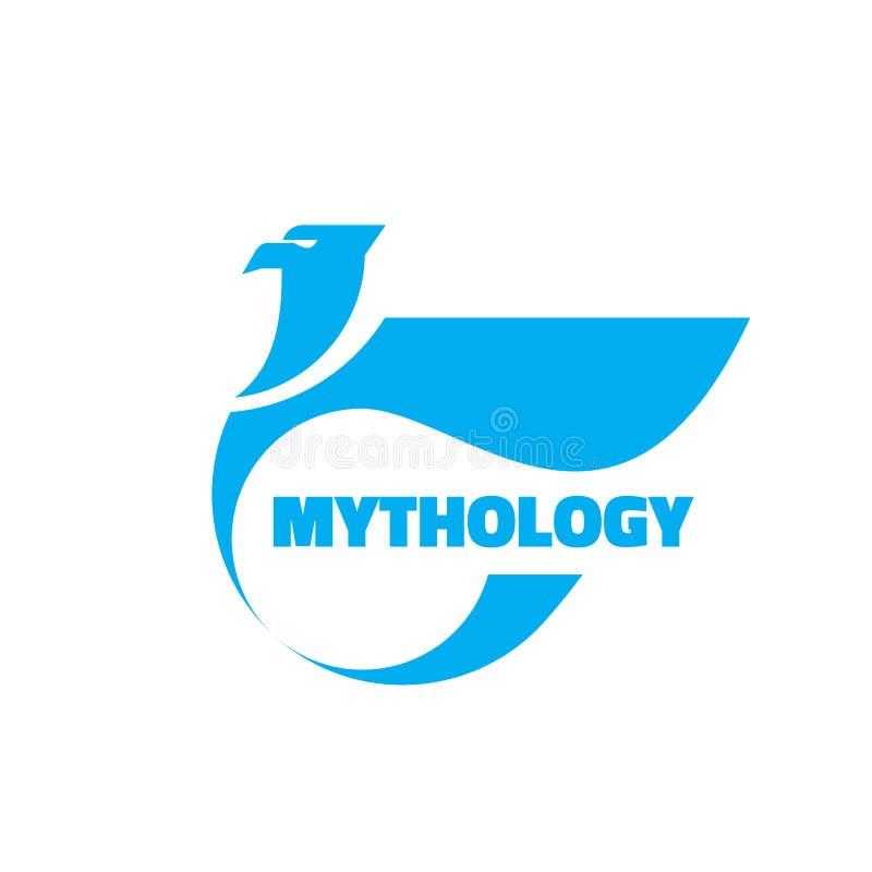 Mitologia - wektorowa loga szablonu pojęcia ilustracja Eagle kreatywnie antyczny znak Abstrakcjonistycznego gryfa heraldyczny sym ilustracja wektor