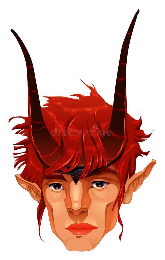 Mitologiczna demon głowa. royalty ilustracja