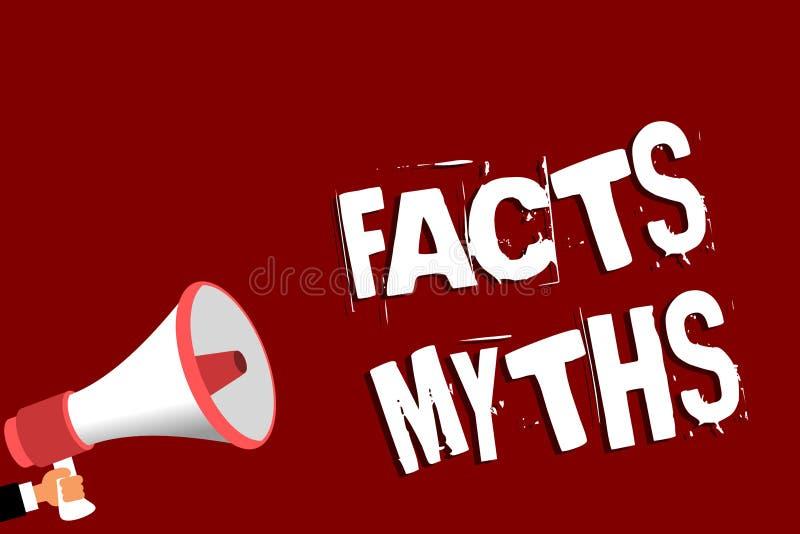 Mitos de los hechos del texto de la escritura Trabajo del significado del concepto basado en la imaginación bastante que en el ho ilustración del vector