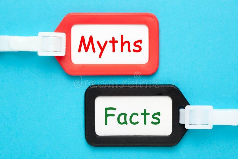 Mitos ou conceito dos fatos imagem de stock royalty free