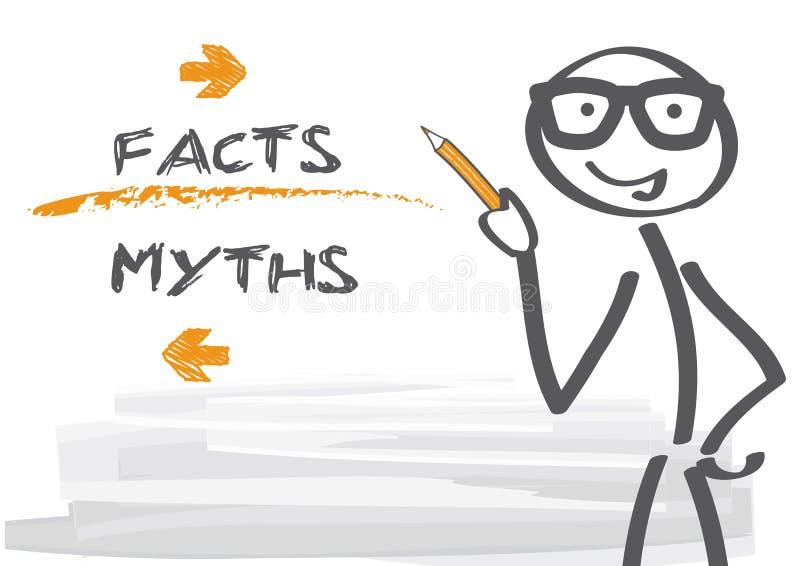 Mitos y hechos ilustración del vector