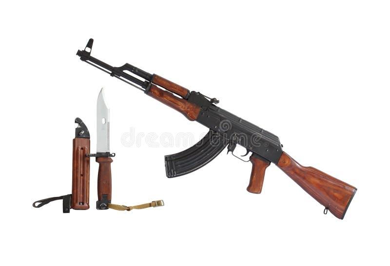 mitraillette de canon d'ak47 photos stock