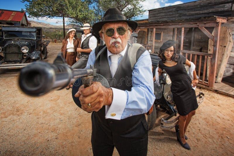 Mitrailleuse de tir de bandit photos libres de droits