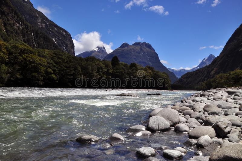 Mitre Peak in Fjorland royalty free stock images