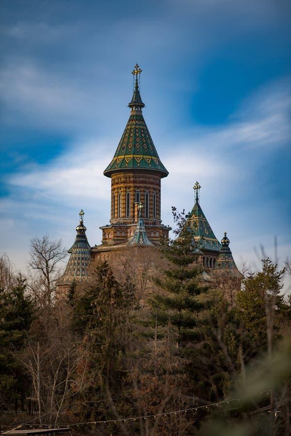 The Mitropolitan Cathedral from Timisoara. Orthodox church Catedrala Mitropolitana din TimiÈ™oara stock images