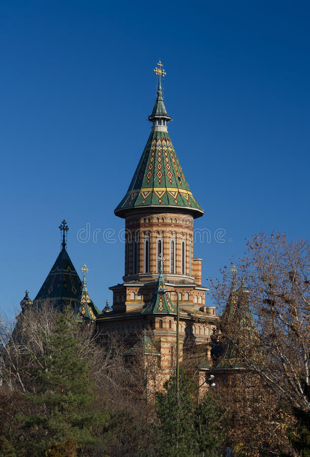 Mitropolitan Cathedral, Timisoara, Romania. Orthodox church (Catedrala Mitropolitana) in Timisoara - the place where it all started. Photo taken during stock photos