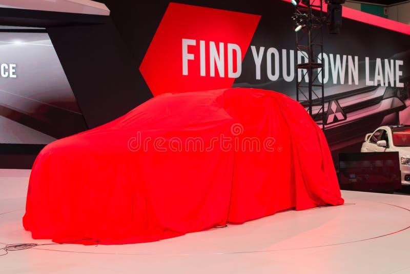 Mitsubishi car debut royalty free stock photo